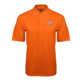 Orange Easycare Pique Polo-SH Paw Official Logo