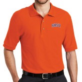 Orange Easycare Pique Polo-Arched SHSU