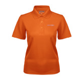 Ladies Orange Dry Mesh Polo-Bearkats