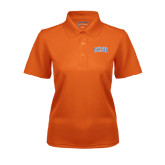 Ladies Orange Dry Mesh Polo-Arched SHSU