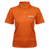 Ladies Orange Dry Mesh Polo-2016 Southland Conference Football Champions Flat