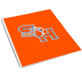 College Spiral Notebook w/Clear Coil-SH Paw Official Logo