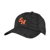 PosiCharge Charcoal/Black Electric Heather Snapback Hat-Primary Athletics Mark PUFF