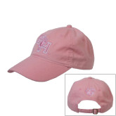 Pink Twill Unstructured Low Profile Cap-Puffed SH Paw
