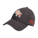 Steel Grey Twill Unstructured Low Profile Hat-SH Paw Official Logo