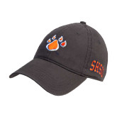 Steel Grey Twill Unstructured Low Profile Hat-Paw