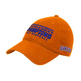 Orange Twill Unstructured Low Profile Hat-2017 Southland Conference Baseball Champions