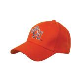 Orange Heavyweight Twill Pro Style Hat-Puffed SH Paw front