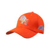 Orange Heavyweight Twill Pro Style Hat-SH Paw Official Logo