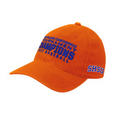 Orange Flexfit Mid Profile Hat-2017 Southland Conference Baseball Champions