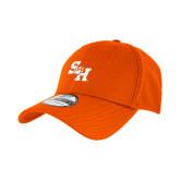 New Era Orange Diamond Era 39Thirty Stretch Fit Hat-Primary Athletics Mark PUFF