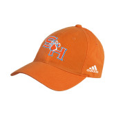 Adidas Orange Slouch Unstructured Low Profile Hat-SH Paw Official Logo