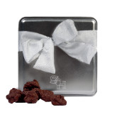 Decadent Chocolate Clusters Silver Medium Tin-SH Paw Official Logo Engraved