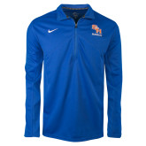 NIKE Royal Dri Fit Training 1/4 Zip Top-