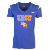 NIKE Ladies Royal Touchdown Tee-