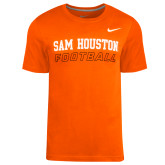 NIKE Orange Locker Room Practice Tee-