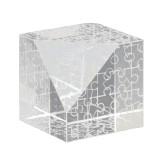 Crystal Puzzle Paperweight-SH Paw Official Logo Engraved