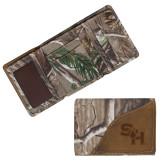 Canyon Realtree Camo Tri Fold Wallet-SH Paw Official Logo Engraved