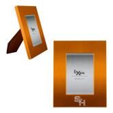 Orange Brushed Aluminum 3 x 5 Photo Frame-SH Paw Official Logo Engraved