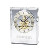 Grand Crystal Clock in Rosewood Box-Bearkats Engraved, Personalized