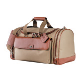 Cutter & Buck Brown Club Duffel-SH Paw Official Logo Debossed