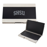 Bey Berk Carbon Fiber Business Card Holder-Arched SHSU Engraved