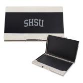 Bey Berk Carbon Fiber Business Card Holder-Arched SHSU Engraved