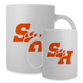 Full Color White Mug 15oz-Primary Athletics Mark
