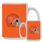 Full Color White Mug 15oz-SHSU Football Helmet