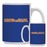 Full Color White Mug 15oz-Grow the Growl Horizontal