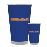 Full Color Glass 17oz-Grow the Growl Horizontal