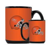 Full Color Black Mug 15oz-SHSU Football Helmet
