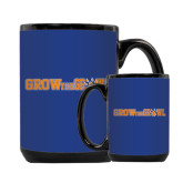 Full Color Black Mug 15oz-Grow the Growl Horizontal