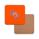 Hardboard Coaster w/Cork Backing-SH Paw Official Logo