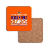 Hardboard Coaster w/Cork Backing-2017 Southland Conference Mens Track and Field