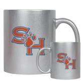 11oz Silver Metallic Ceramic Mug-SH Paw Official Logo
