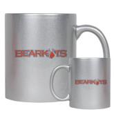 11oz Silver Metallic Ceramic Mug-Bearkats