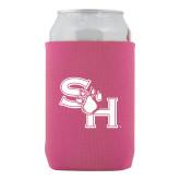 Neoprene Hot Pink Can Holder-SH Paw Official Logo