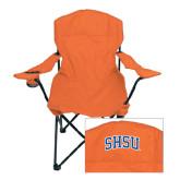 Deluxe Orange Captains Chair-Arched SHSU