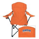 Deluxe Orange Captains Chair-Arched SHSU Bearkats