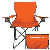 Deluxe Orange Captains Chair-Sam Houston Wordmark