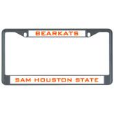 Metal License Plate Frame in Black-Bearkats