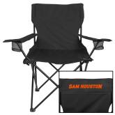 Deluxe Black Captains Chair-Sam Houston Wordmark