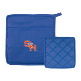 Quilted Canvas Royal Pot Holder-SH Paw Official Logo