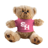 Plush Big Paw 8 1/2 inch Brown Bear w/Pink Shirt-SH Paw Official Logo