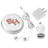 3 in 1 White Audio Travel Kit-SH Paw Official Logo
