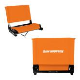 Stadium Chair Orange-Sam Houston Wordmark