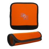 Neoprene Orange Luggage Gripper-SH Paw Official Logo