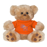 Plush Big Paw 8 1/2 inch Brown Bear w/Orange Shirt-SH Paw Official Logo