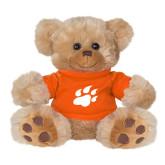 Plush Big Paw 8 1/2 inch Brown Bear w/Orange Shirt-Secondary Athletics Mark